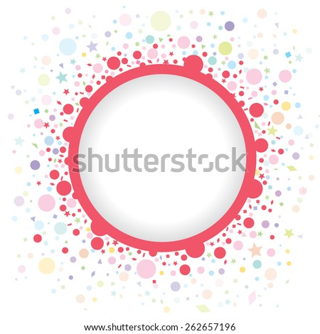 Abstract multicolored background for kids background, blog, scrapbooks, party, carnival or invitation cards, Vector Illustration EPS 10. - stock vector