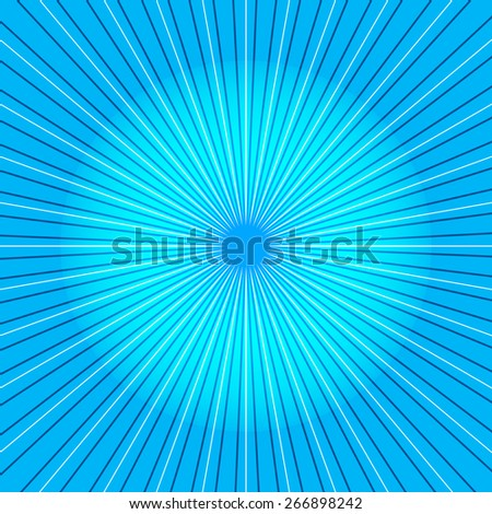 Abstract multicolored vector background with radial ray  - stock vector