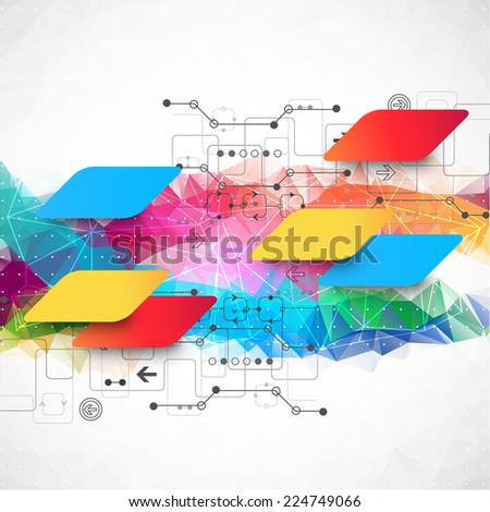 Abstract multid colored background. Vector illustration - stock vector