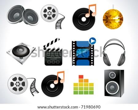 abstract multimedia icon vector illustration - stock vector