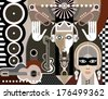 Abstract Music Art vector illustration - stock photo