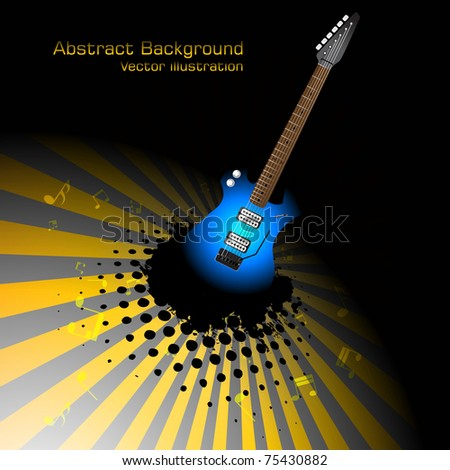 Abstract music background. Clip-art - stock vector