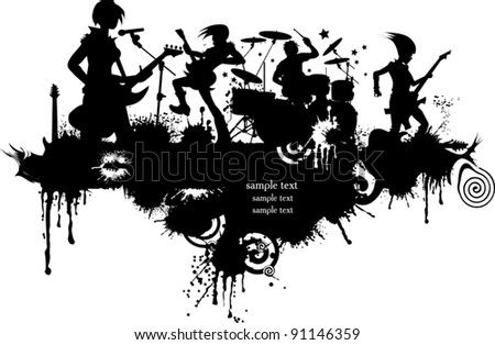 Abstract music background for music event design. vector illustration; - stock vector