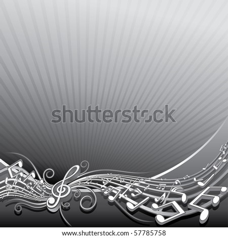Abstract music background template  for your text or design, to see similar images, please visit my Gallery - stock vector