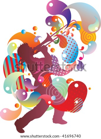 abstract music band - stock vector