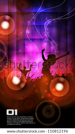 Abstract music dance background - stock vector