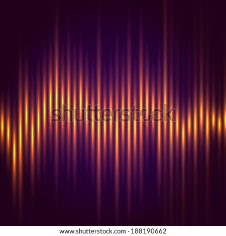 Abstract music equalizer, wave style vector background - stock vector