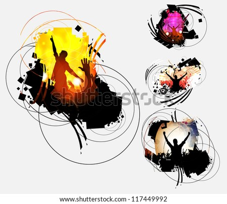 Abstract music event background