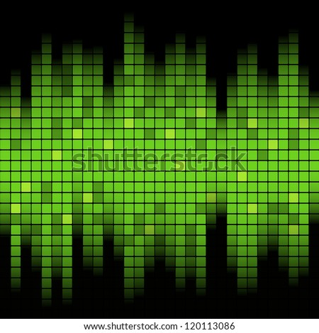 Abstract music inspired graphic equalizer background. Vector illustration. - stock vector