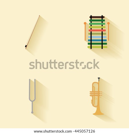 Abstract music instruments - stock vector