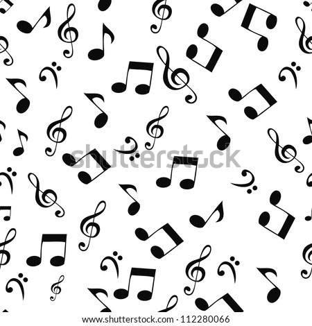 Abstract music seamless pattern background vector illustration for your design