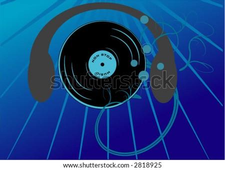 abstract music vector - stock vector