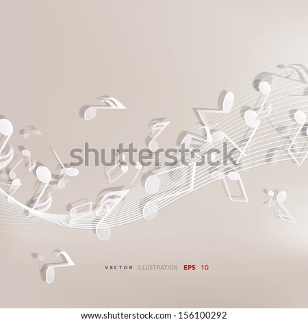 Abstract musical background - stock vector