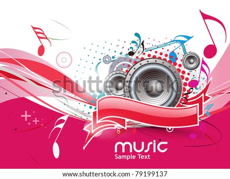 Abstract musical background, vector illustration. - stock vector