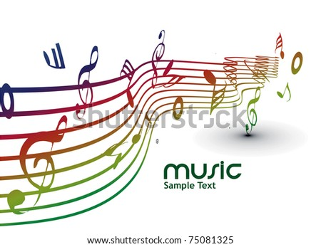 abstract musical notes background for design use. - stock vector