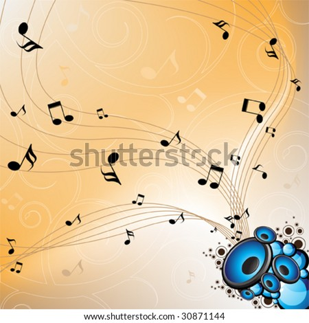 abstract musical vector design - stock vector