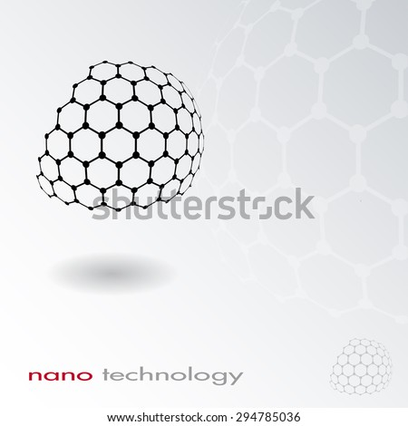Abstract nano structure vector background. Science icon - stock vector