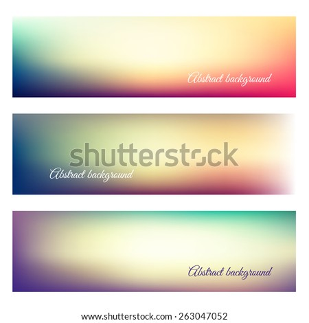Abstract natural background banners - eps10 - stock vector