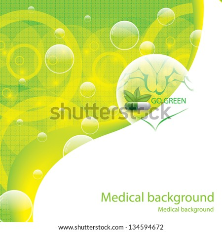 Abstract natural green medical background