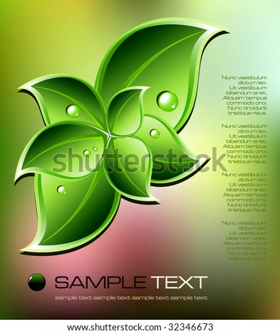 abstract nature background - vector illustration