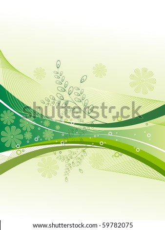 abstract nature background, vector illustration
