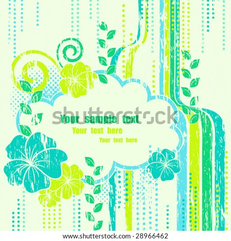 Abstract nature composition beautiful frame. Vector illustration. - stock vector
