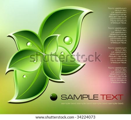 Abstract nature concept - vector illustration