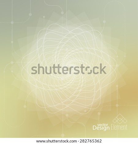 Abstract neat Blurred Background with lines and dots. Glowing mandala spiral. Chakra. Self-knowledge in meditation. sacred soul. Higher cosmic mind - stock vector