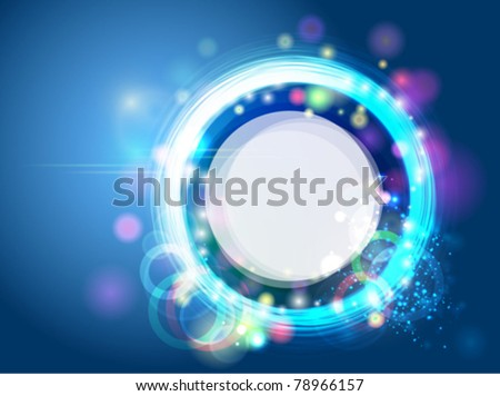 Abstract neon background - stock vector