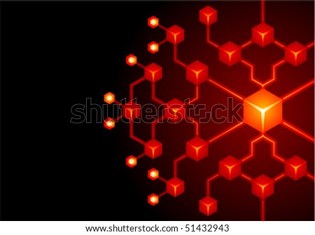 Abstract network background - stock vector