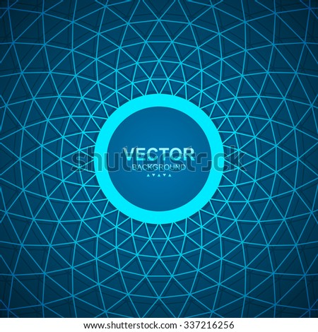 Abstract network banner triangular mesh background. - stock vector