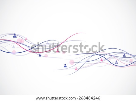 Abstract network concept on the white backdrop - stock vector
