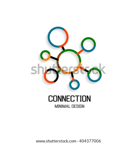 Abstract network connection - stock vector