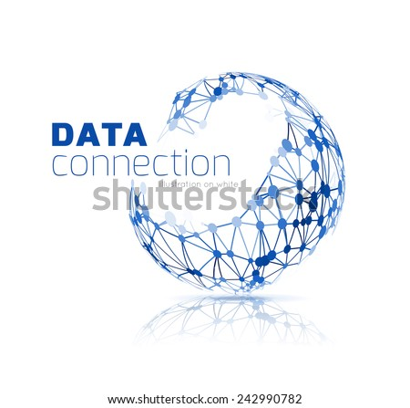 Abstract network connection vector - stock vector