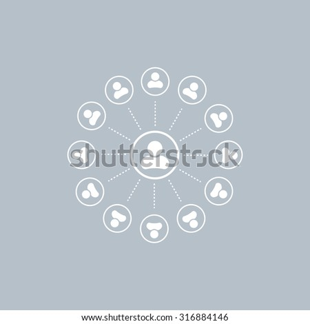 Abstract network with circles.