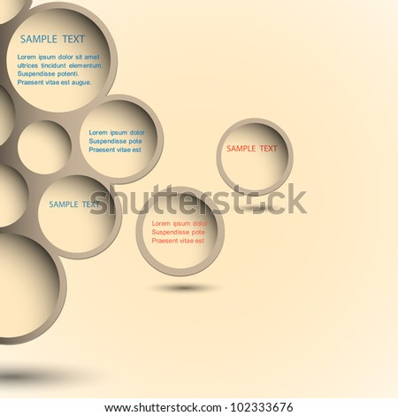 Abstract new design bubble background.Vector eps10 - stock vector
