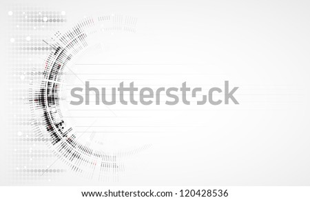 Abstract new technology dynamic fade banner background - stock vector
