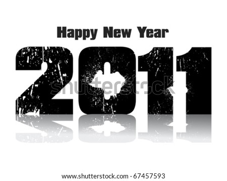 abstract new year grunge text vector illustration - stock vector