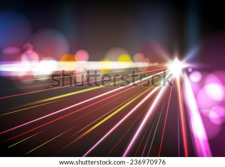 Abstract night city - stock vector