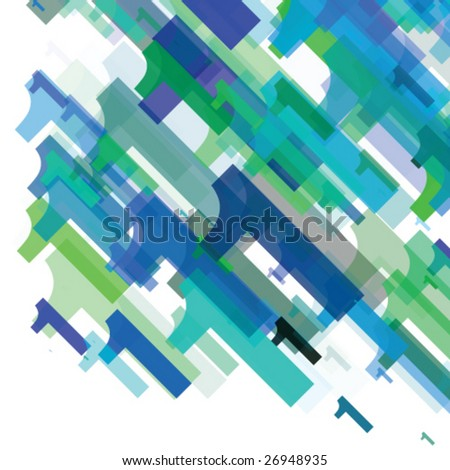 Abstract number one - stock vector