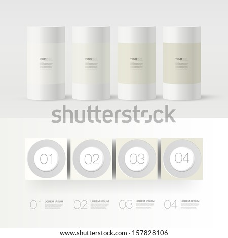 Abstract numbered 3D infographic design with your text  Eps 10 vector illustration - stock vector