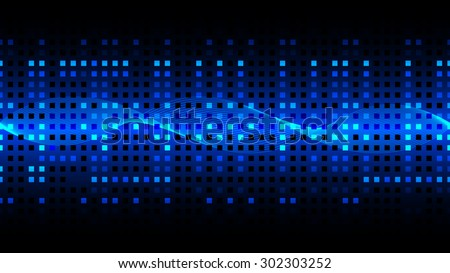 Abstract of digital information transference background, vector illustration