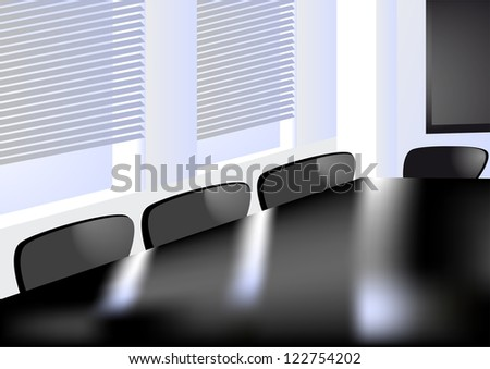 abstract office. window in the conference room - stock vector