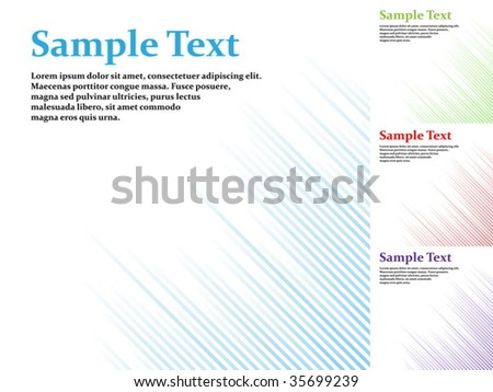 Abstract one tone stripy vector background with copyspace. - stock vector