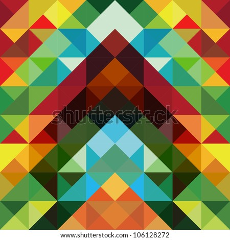 Abstract optic effect colorful triangle pattern background. Vector file layered for easy manipulation and coloring. - stock vector
