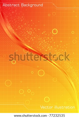 Abstract orange background. Clip-art - stock vector
