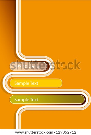 Abstract orange background. Eps10 .Image contain transparency and various blending modes - stock vector