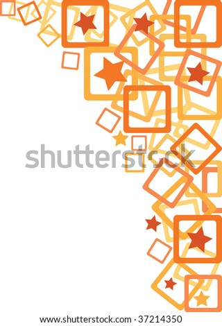 abstract orange ornaments background vector (series) - stock vector