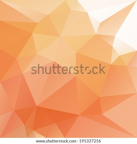 Abstract orange polygonal background. Editable vector illustration. - stock vector