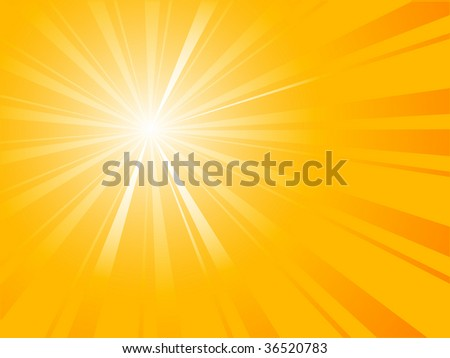Abstract orange sunburst - vector illustration